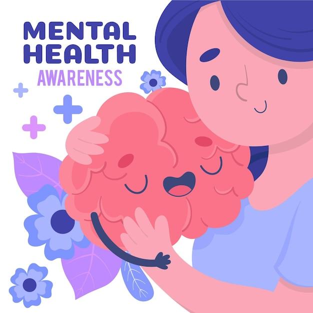 Mental health awareness concept Premium Vector