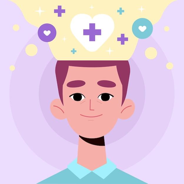 Mental health awareness concept Free Vector