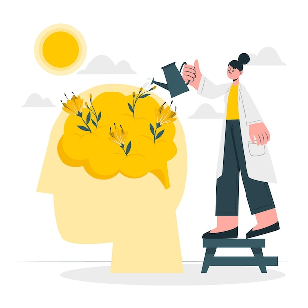 Mental health concept illustration Free Vector