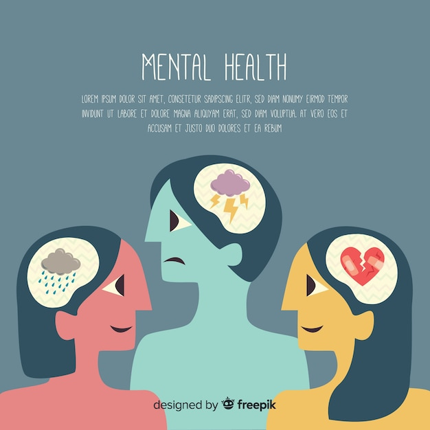 Mental health concept Free Vector