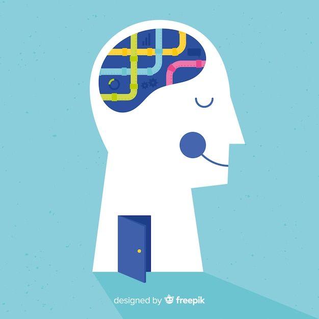 Mental health concept Free Vector