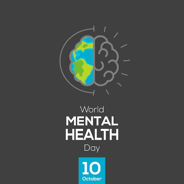 Mental Health Day Vector Poster Design Premium