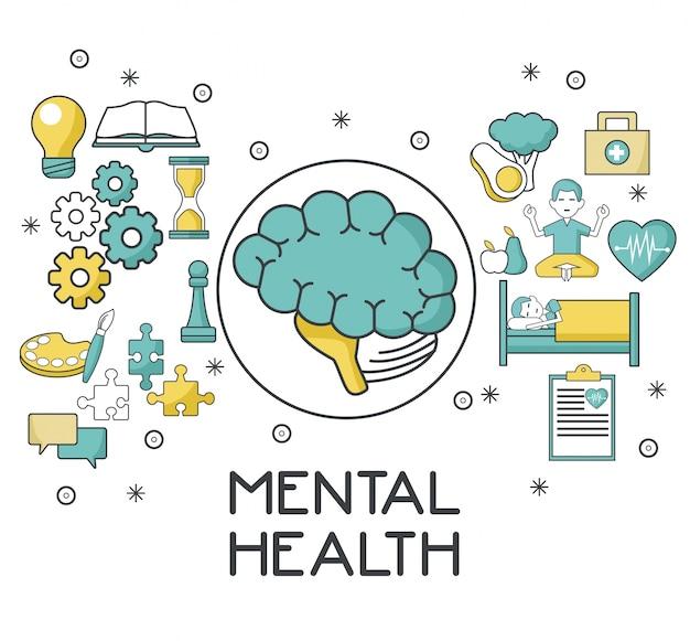 Mental health design Premium Vector