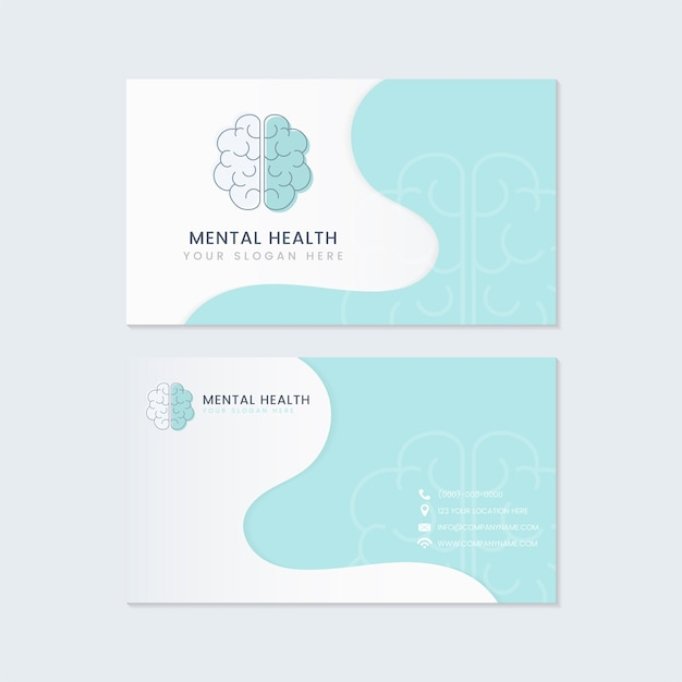 Mental health psychiatrist name card mockup vector Free Vector