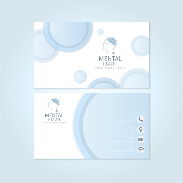 Mental health psychiatrist name card mockup vector Free Vector