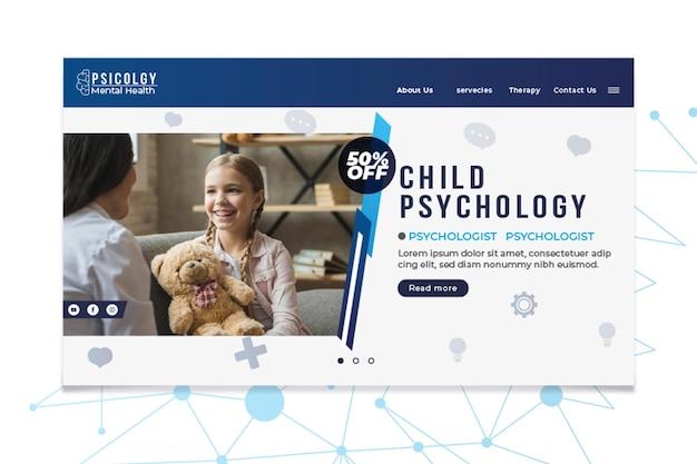 La psicologia della salute mentale consulta il modello della pagina di destinazione Vettore gratuito
