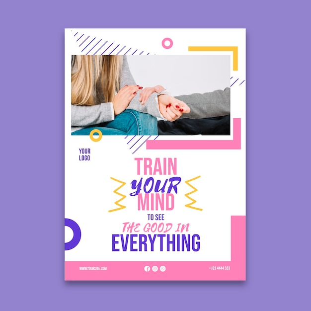 Mental health template flyer Free Vector