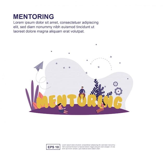 Mentoring concept Premium Vector