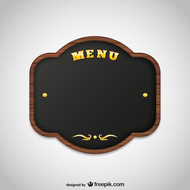 menu board vector free download