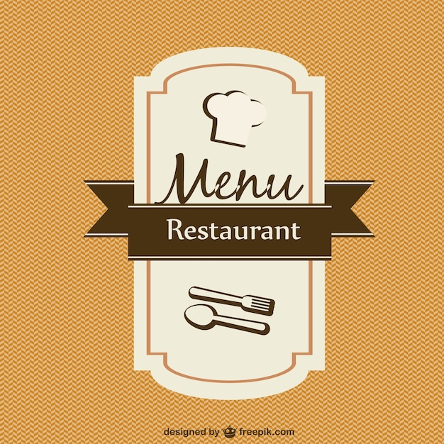 Menu card template vector Vector | Free Download