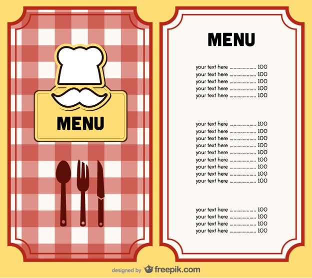 menu cover design vector vector free download