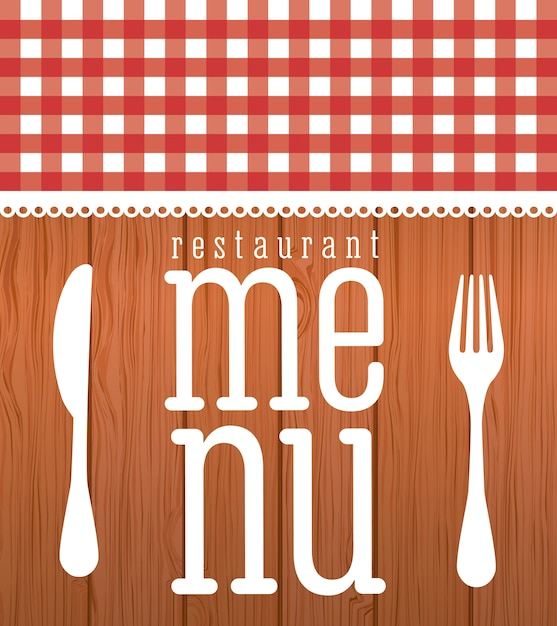Menu graphic design Free Vector