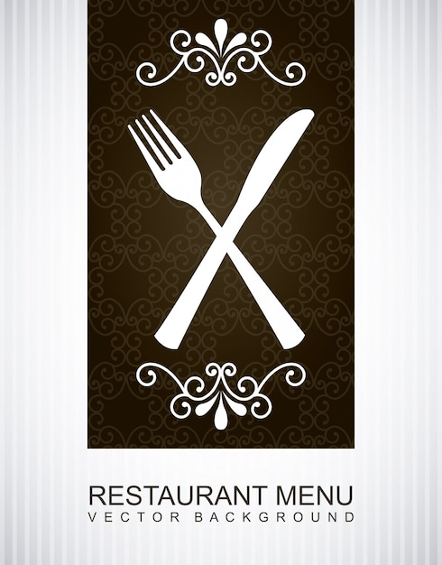 Menu over gray background Free Vector