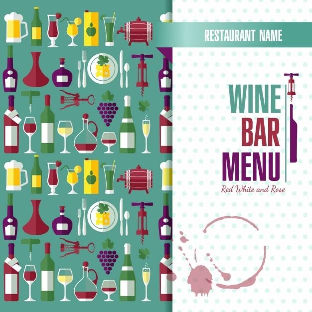 Menu template about wine