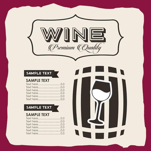 Menu wine template Free Vector