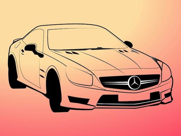 mercedes benz outlines logo vector free vector