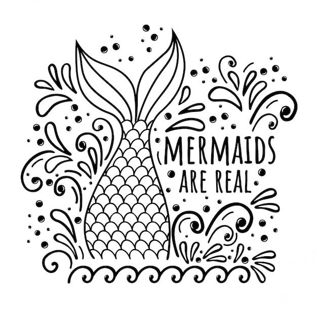Mermaid are real Premium Vector