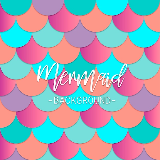 Mermaid background Free Vector