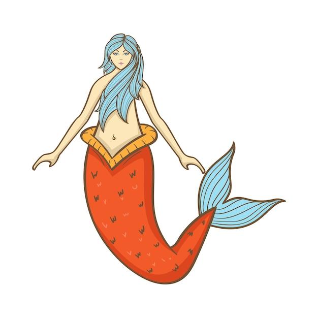 Mermaid illustration Premium Vector