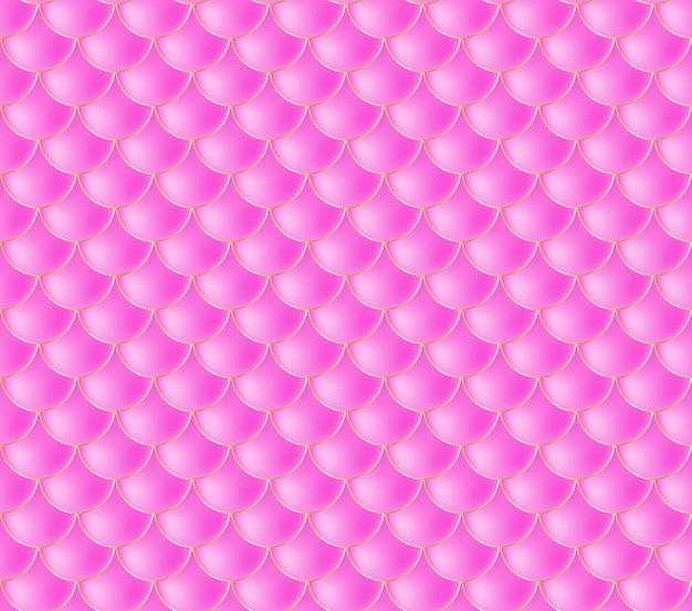 人魚の鱗。魚鱗。ピンクのシームレスパターン Premiumベクター