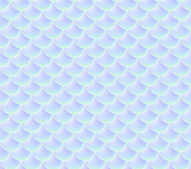 Весы русалки. рыба squama. бесшовные модели. цветной акварельный фон. масштаб печати. Premium векторы