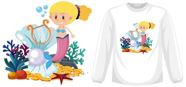 Mermaid theme outfit Premium Vector
