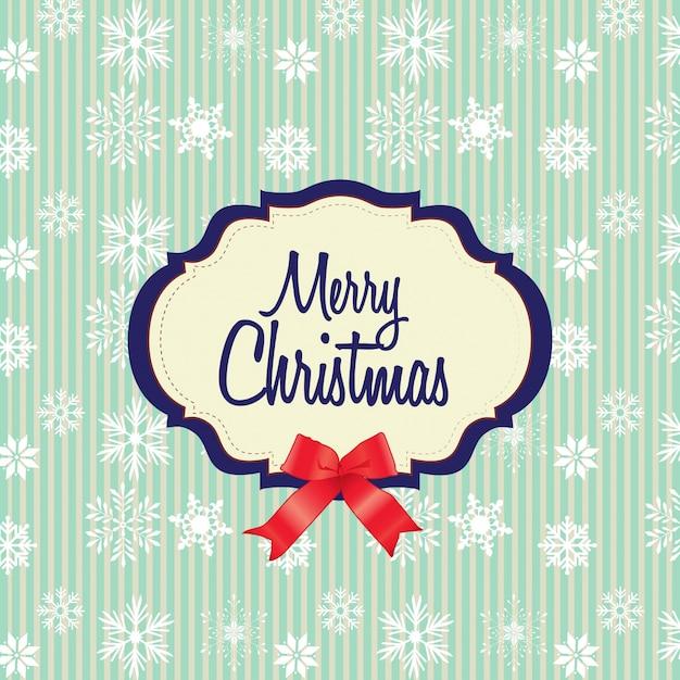 Merry chrismas background with white snow flakes