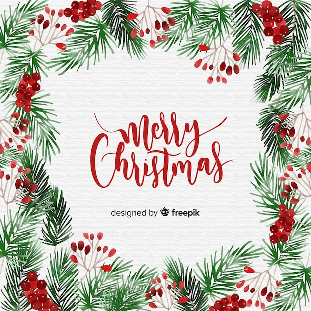 Merry christamas background Free Vector