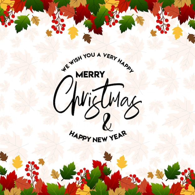 Merry christmas 2019 background Premium Vector