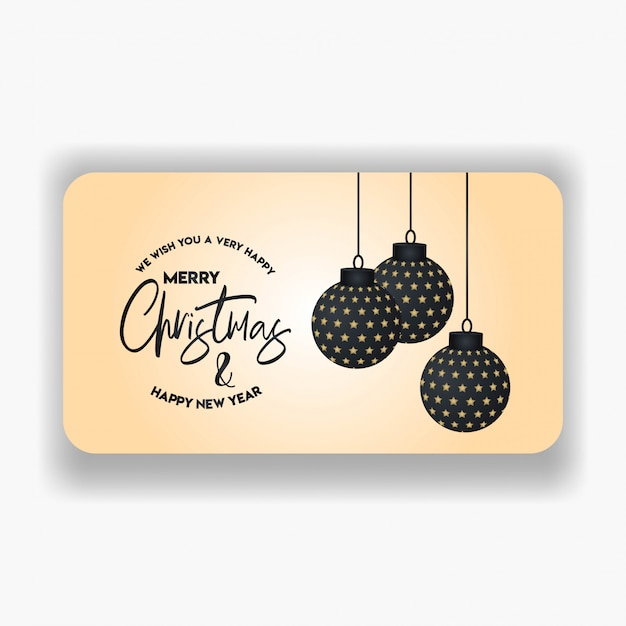 Merry christmas 2019 banner template Premium Vector