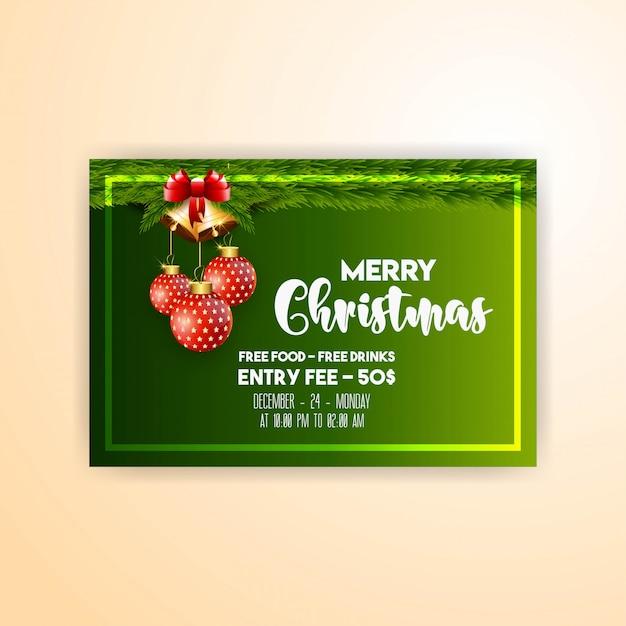 Merry christmas 2019 banner template Premium Vector