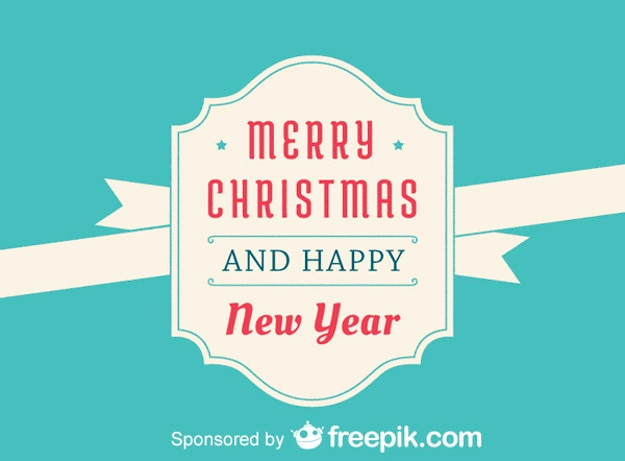 merry christmas and and happy new year free vector