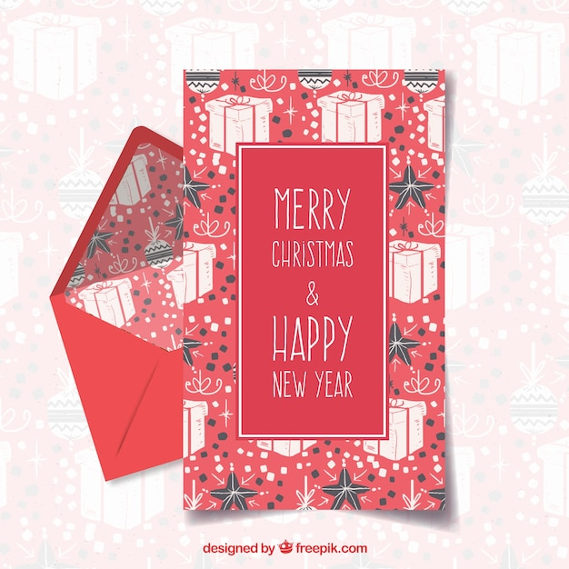 Merry christmas and happy holiday dar red letter template vector merry christmas and happy holiday dar red letter template free vector spiritdancerdesigns Image collections