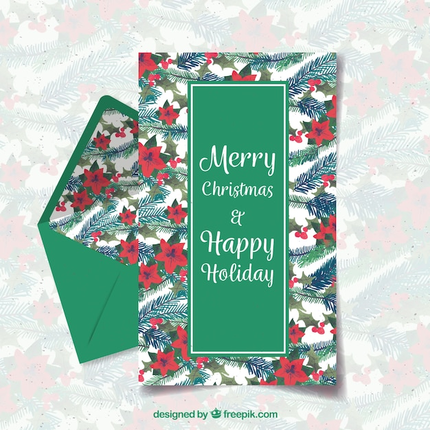 Merry christmas and happy holiday green letter template vector merry christmas and happy holiday green letter template free vector spiritdancerdesigns Image collections