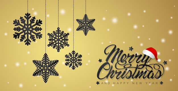 merry christmas and happy new year banner template premium vector
