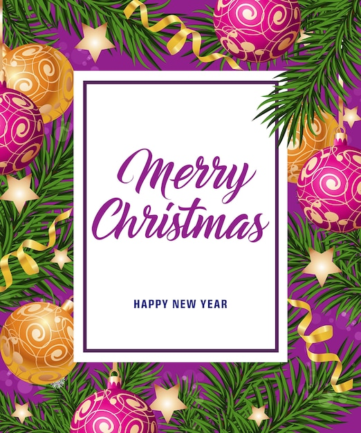 Merry christmas and happy new year card vector free download merry christmas and happy new year card free vector m4hsunfo