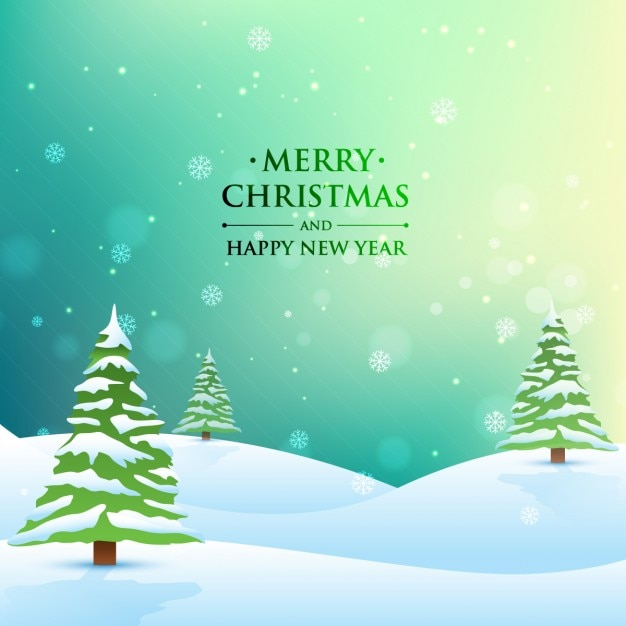 Merry christmas and happy new year vector free download