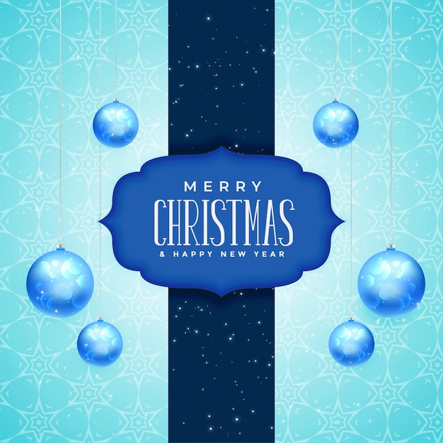 merry christmas and new year greeting card design free vector