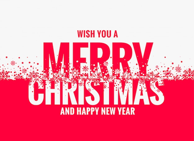 merry christmas and new year wishes greeting design free vector