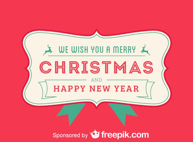 merry christmas and we wish you a happy new year red backgrounds free vector
