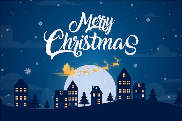 Merry christmas background concept Free Vector