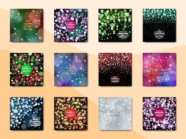 Merry christmas background, new year background, abstract background Premium Vector