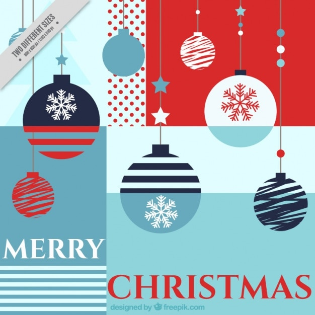 Merry christmas background with geometric shapes Free Vector