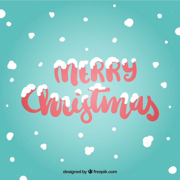 merry christmas background with snow free vector - Merry Christmas Background