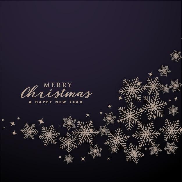 Веселый новогодний фон с волнистыми снежинками Бесплатные векторы