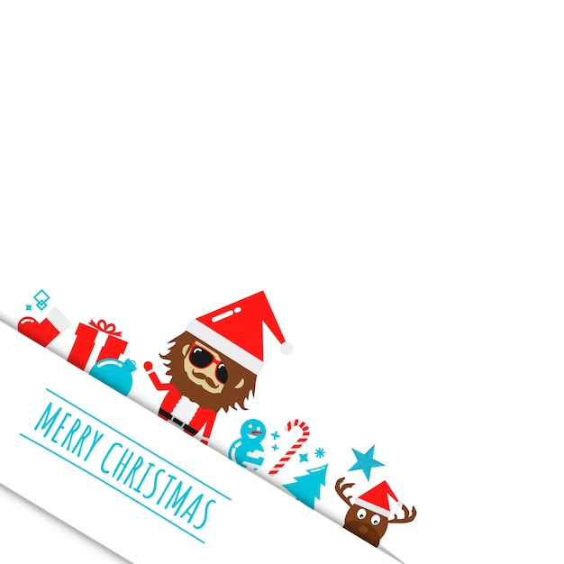 merry christmas background Premium Vector