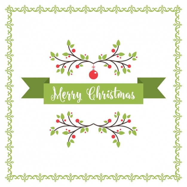 merry christmas background vector free download