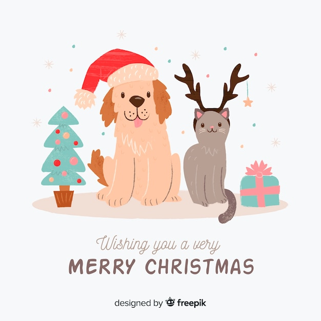 christmas dog vectors photos and psd files free download. Black Bedroom Furniture Sets. Home Design Ideas
