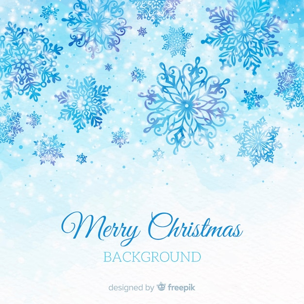 Merry christmas background Free Vector