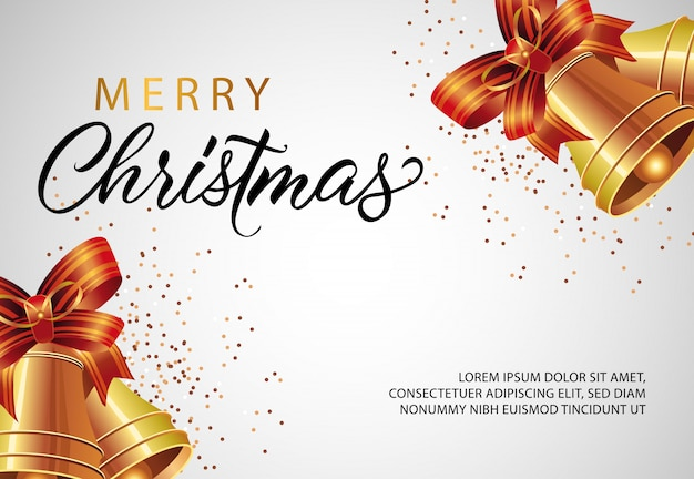 Merry christmas banner design with jingles Vector | Free Download